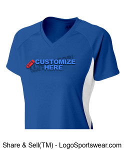 Ladies Cooling Performance V-Neck ~ Customized Design Zoom