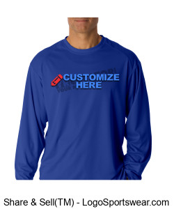 Adult B-Dry Core Long Sleeve Performance Tee ~ Customized Design Zoom