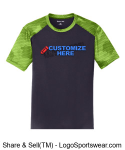 Adult Camohex ColorBlock Tee ~ Customized Design Zoom