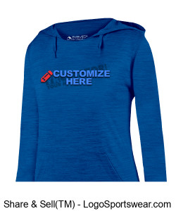 Ladies Shadow Tonal Heather Hoodie ~ Customized Design Zoom